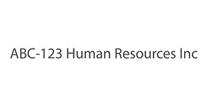 ABC-123 Human Resources Inc
